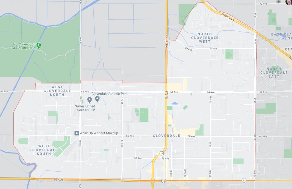 map of clodverdale neighborhoods