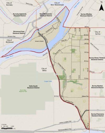 north delta map